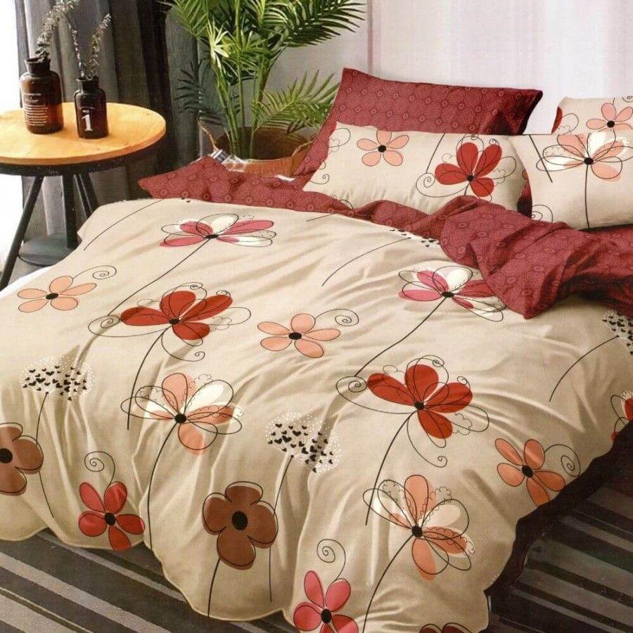 Fine Satin Linen Set 6 Pieces Bed 2 People Elegant Pu …