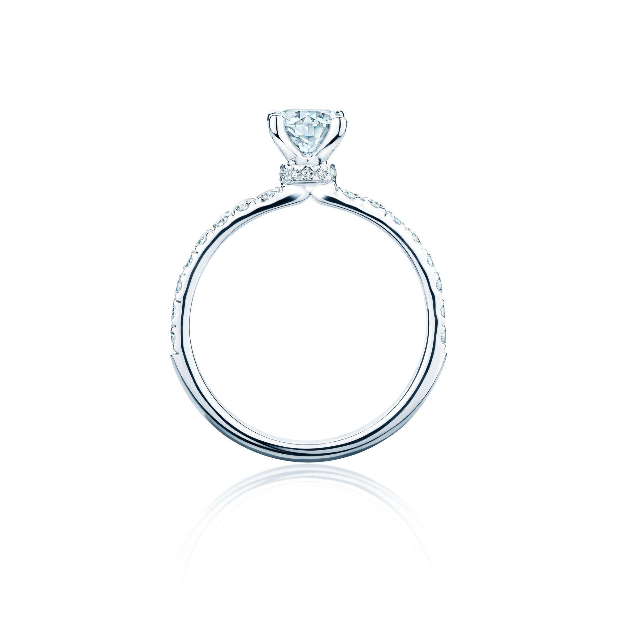 BIRKS DECO Canadian diamond pavé engagement ring