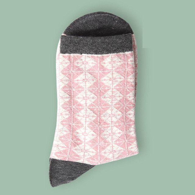 Personality jacquard panda cute rabbit pattern breathable comfortable women socks
