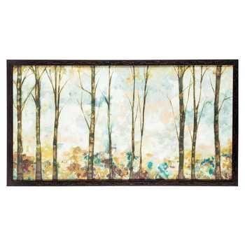 Pastel Birch Trees Framed Art | Hobby Lobby | Metal Tree Wall Art in ...