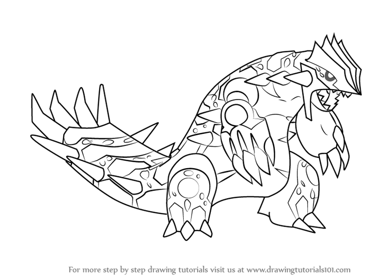 Learn How To Draw Primal Groudon From Pokemon Pokemon Step By Step Drawing Tutorials Drawings Pokemon Drawing Tutorial