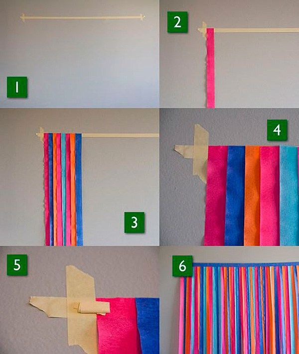 Cortinas de papel crepe paso a paso cortinas de crepe - Como hacer cortinas de tiras ...