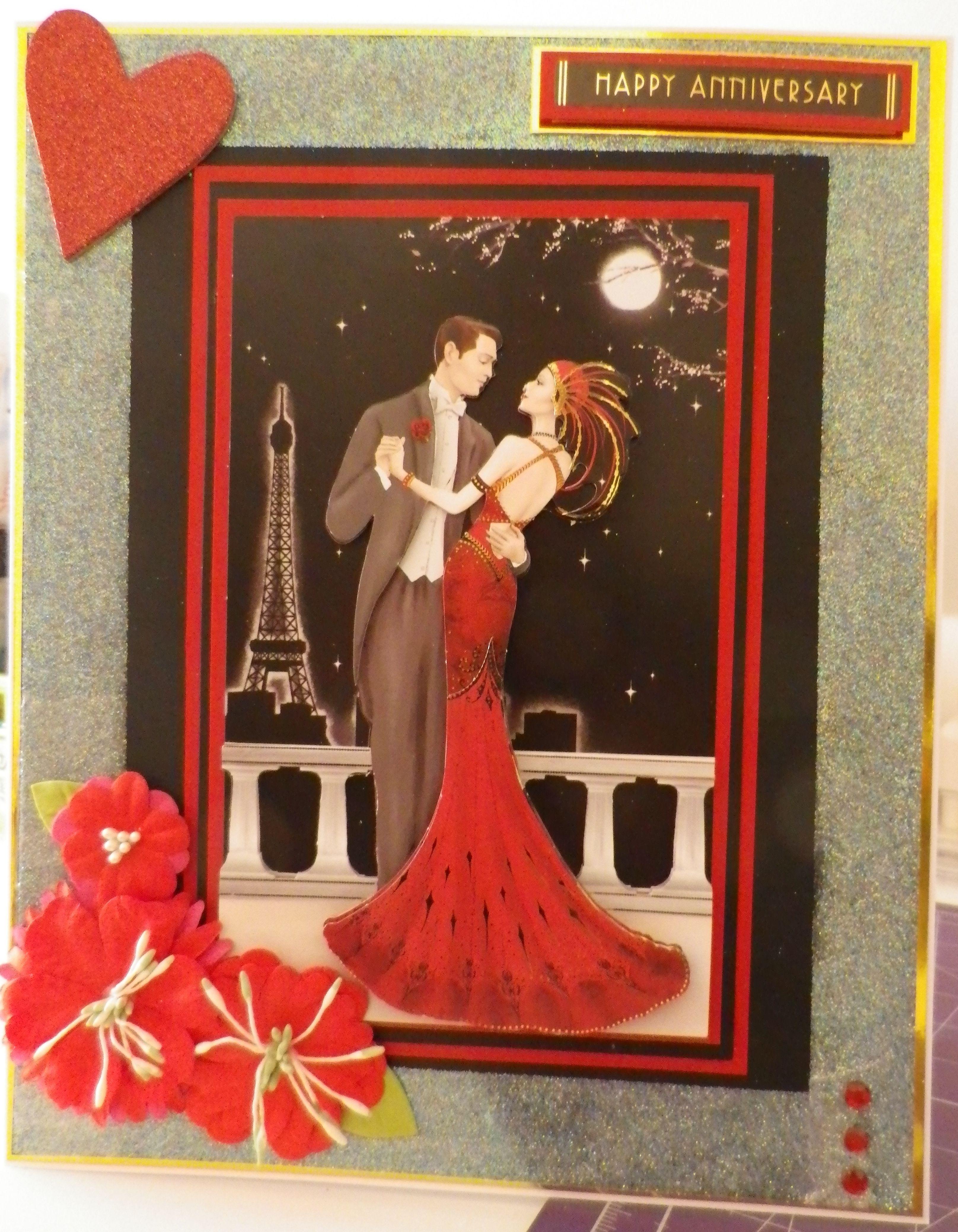 ruby wedding anniversary card  wedding anniversary cards