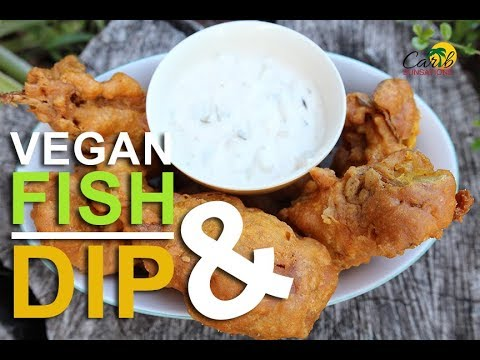 5 Battered Fish Banana Blossoms Dip Vegan Recipe Carib Sunsations Youtube In 2020 Vegan Recipes Vegan Fish Recipes