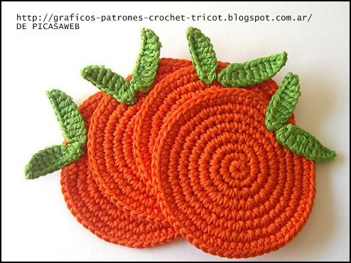 Crochet ganchillo patrones graficos carpetita - Posavasos de ganchillo ...