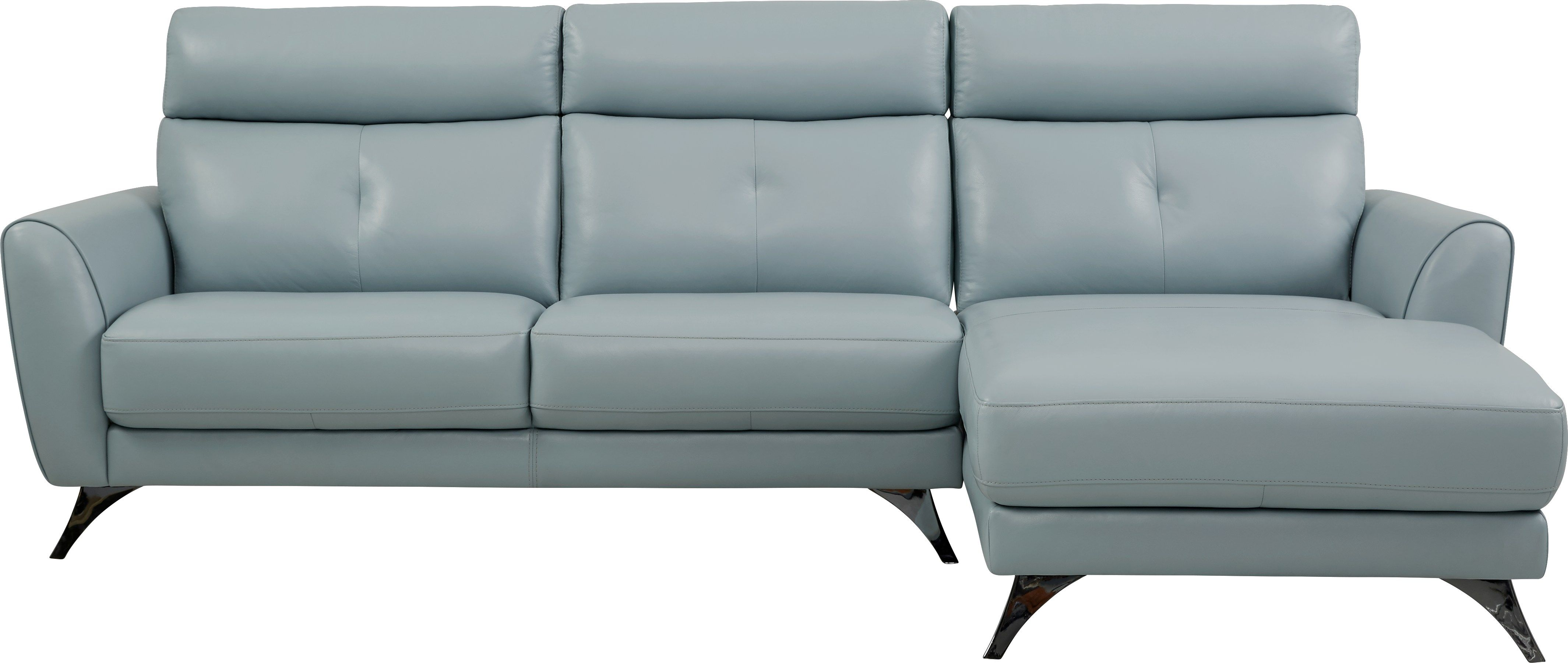 Modena Sky Blue Leather 2 Pc Sectional Living Room Leather Leather Furniture Blue Living Room
