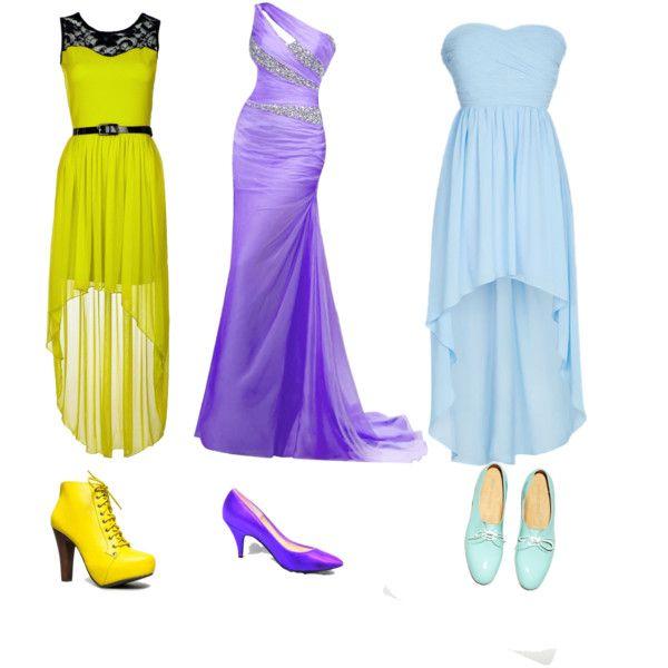 Dresses Yellow/Purple/Blue