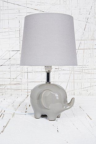 Elephant Lamp Uk Plug In Grey Urban Outers