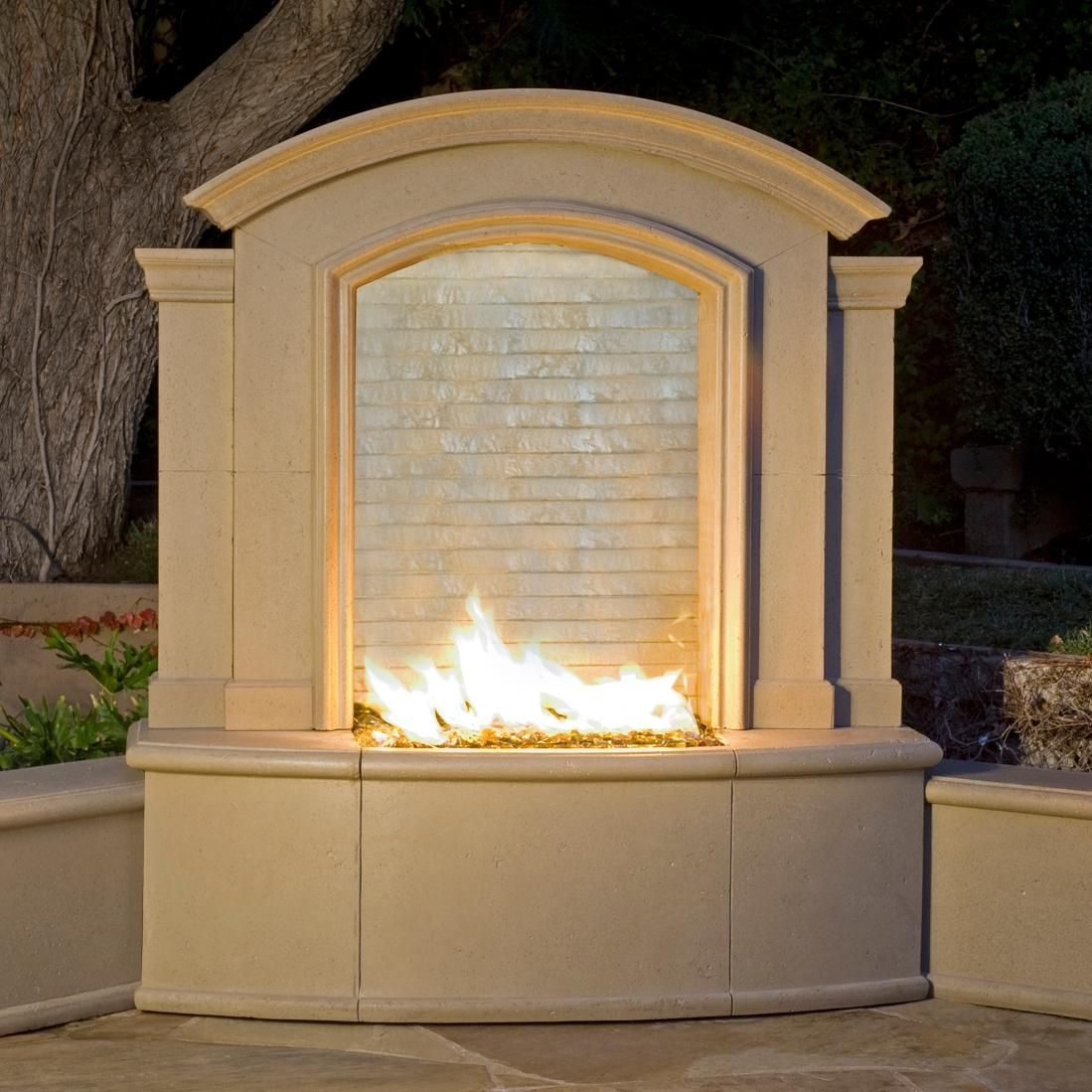 american fyre designs 61 inch outdoor propane gas large firefall