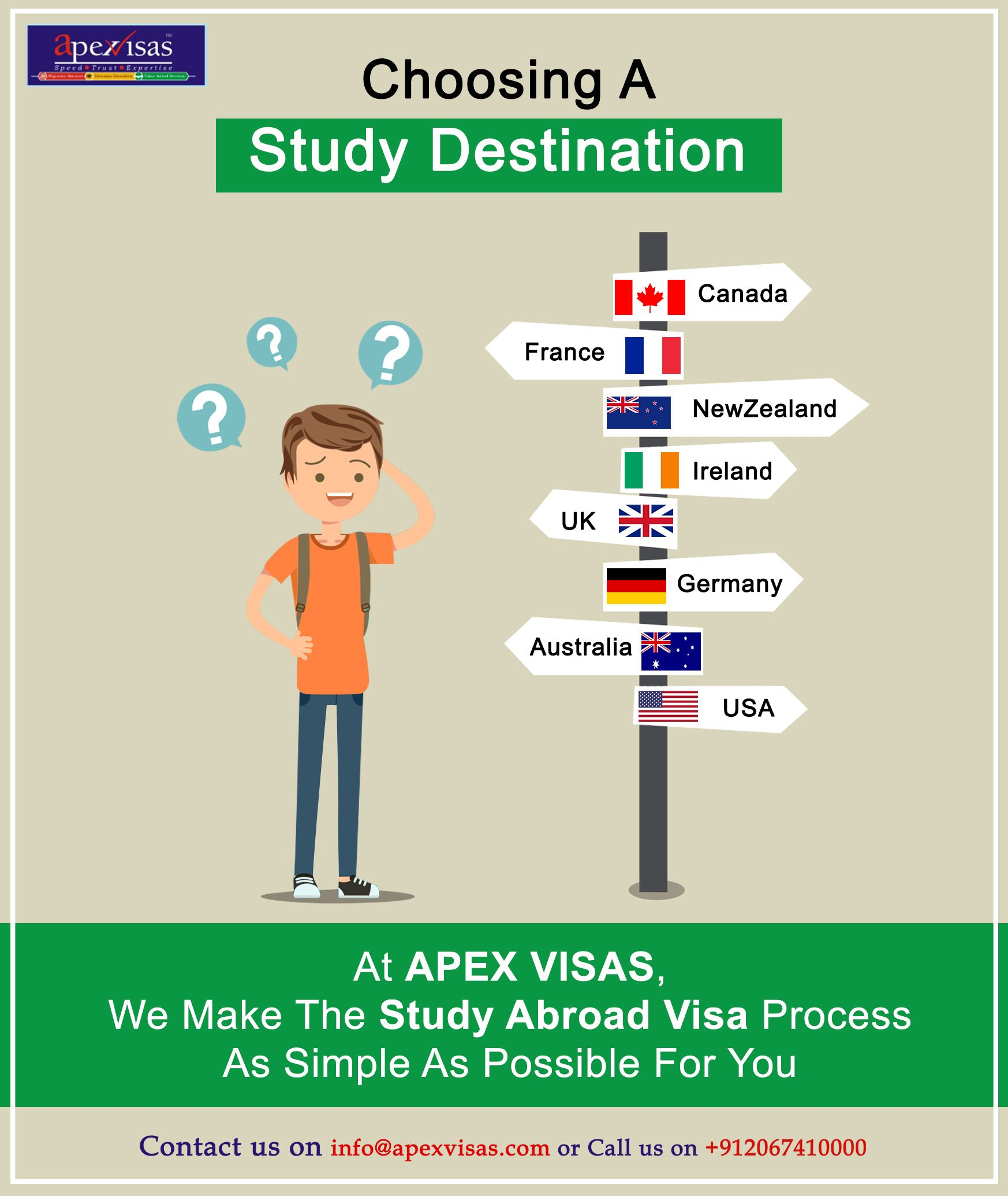 At Apexvisas We Make The Study Abroad Visa Process As Simple As Possible For You Immigration Visa Travel Ireland Uk Visa Study Abroad