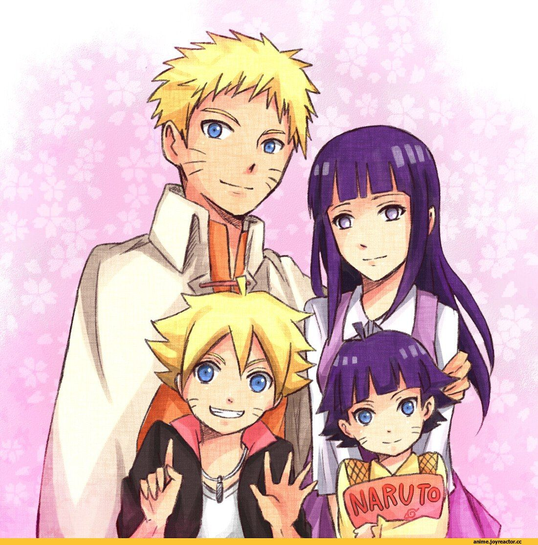 naruto with his wife and his kids Naruto