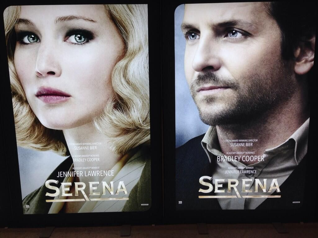 The first posters of Jennifer Lawrence and Bradley Cooper