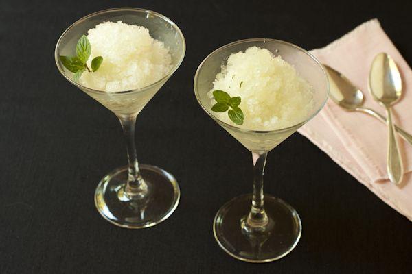 Pear-celery-ginger-mint juice   Pear granita   Sugar-free   Vegan