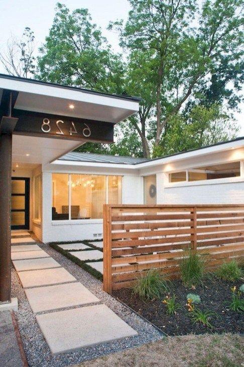 50 Modern Front Yard Designs And Ideas: 43 Adorable Mid Century Frontyard Design Ideas