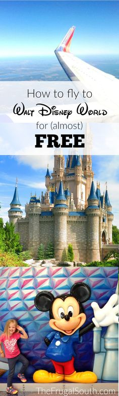 How I regularly fly to Disney World for almost free. I use Southwest points for airfare and only pay $5.60 per person each way. Cheap flights to Disney World!