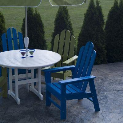 Polywood Adirondack Dining Chair Plastic Patio Furniture