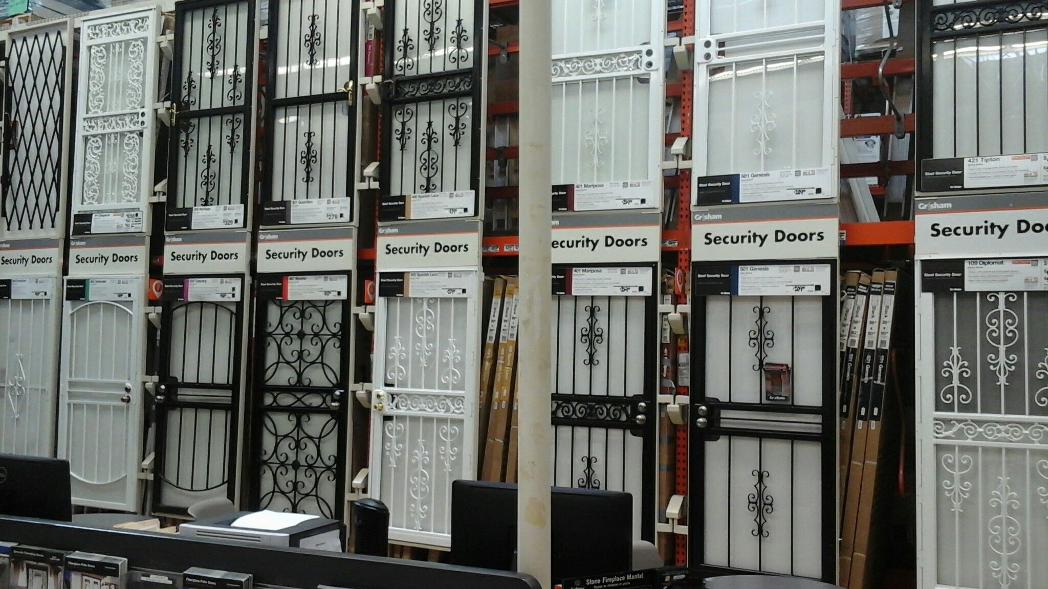 Grisham Security Doors. Found At Home Depot.