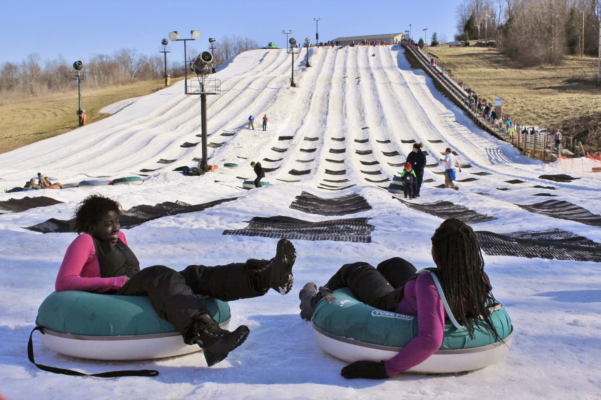 The Epic Snow Tubing Hill In Indiana Paoli Peaks Is Filled With Winter Thrills Snow Tubing Fun Winter Activities Winter Destination