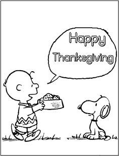 Charlie Brown Thanksgiving coloring pages Charlie Brown