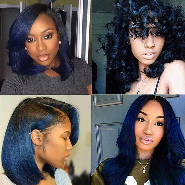 Gorgeous Color Midnight Blue Which Is Your Favorite Voiceofhair Voiceofhair Com Blue Natural Hair Midnight Blue Hair Natural Hair Styles