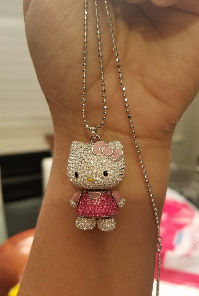 8bd9eb565 Hello kitty swarovski necklace | Hello Kitty | Hello kitty bedroom ...