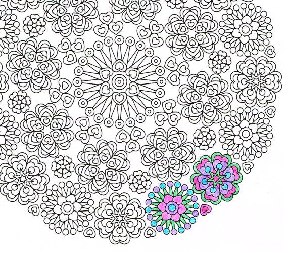 mandala coloring page lace of love printable coloring page for mindfulness art therapy and fun awesome get well soon gift - Art Therapy Coloring Pages Mandala