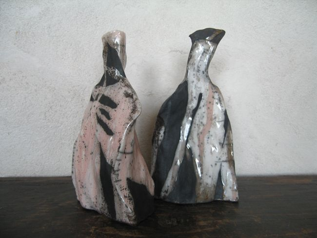 Small raku bottles - Caroline Fawkes Ceramics (Raku & Smokefired)