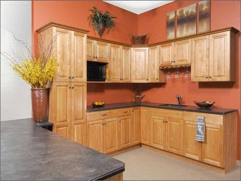Kitchen Color Ideas with OAK Cabinets | Kitchen Cabinet Colors ...