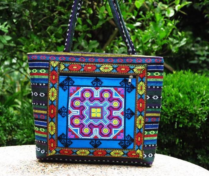 2015 Bolsa de ombro New Yunnan Ethnic bordado Bolsa Handmade bordado grande grande saco de compras bolsa de viagem
