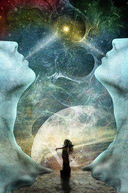 Twin Flame, Twin Breath #visionaryart #art #beautiful #visual