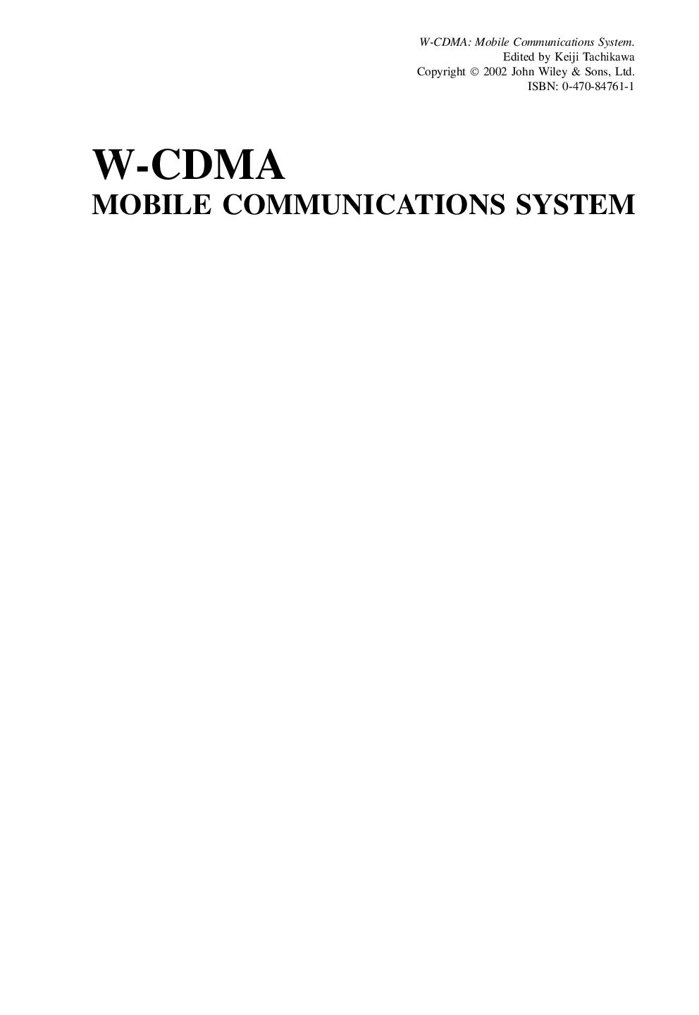 Wcdma Mobile Communications System Pdf Download Service Manual Repair Manual Pdf Download Communication System Communications Pdf Download