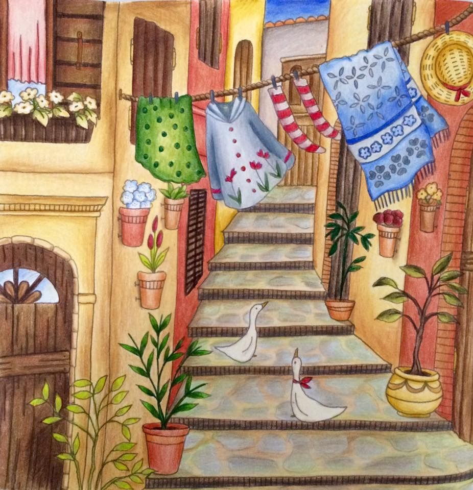 Romantic Country A Fantasy Colouring Book The First Tale Eriy Eriy Romanticcountry Romantic Country Coloring Books Line Artwork