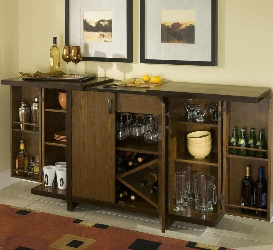 Marvelous Bar Cabinet With Upside Down Wine Glass Racks Feat