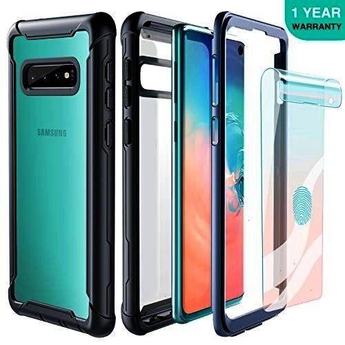 Galaxy S10 Case Full Body Rugged Heavy Duty Clear Bumper Case with Free Sc... galaxy note 8 Samsu