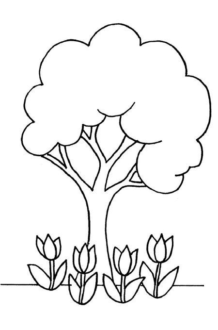 ألبومات صور منوعة ألبوم صور أشجار ونباتات مفرغة للتلوين Tree Coloring Page Earth Day Coloring Pages Spring Coloring Pages