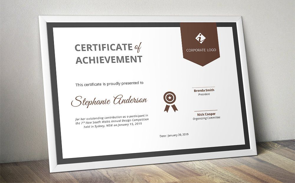 ribbon certificate template  docx   change easy download instant