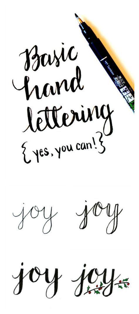 Basic Hand Lettering Tutorial  Art Ideas    Hand
