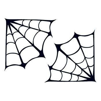 Corner Spider Webs Temporary Tattoo | Halloween | Spider ...