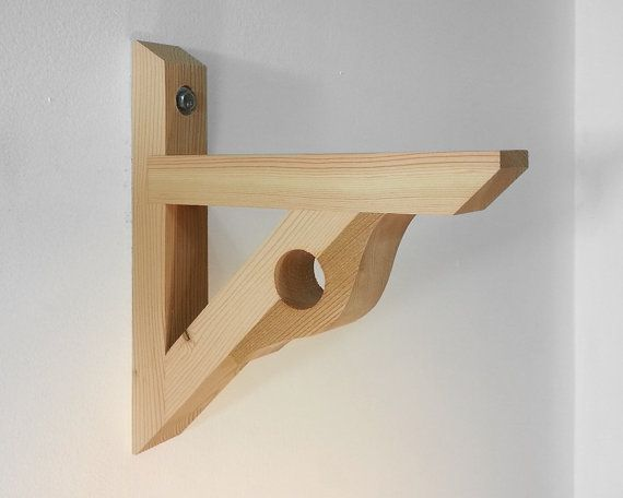 1 Wood Shelf Curtain Rod Bracket Made From By Chicagolumber