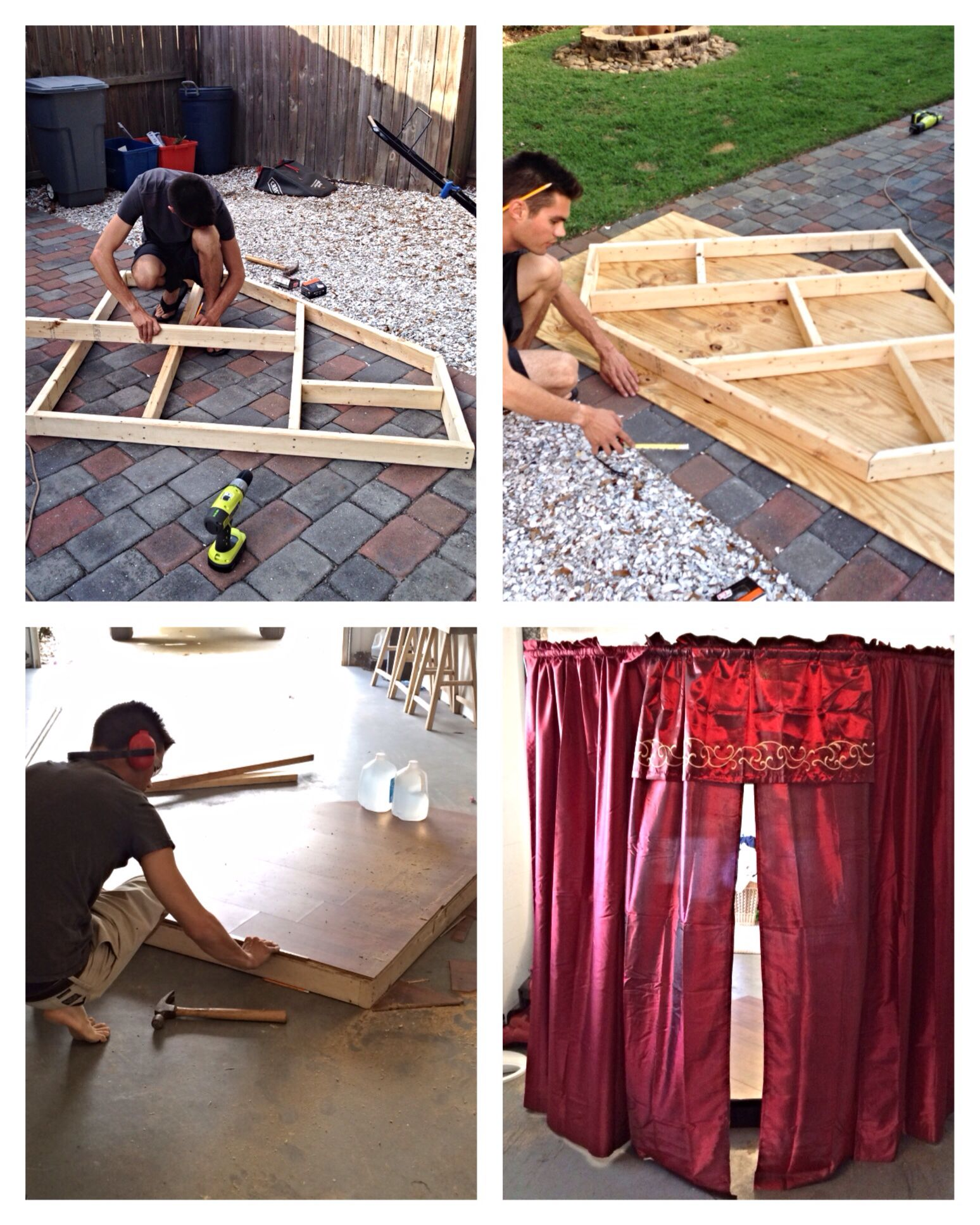 Home Made Play Stage #kids #stage #diy