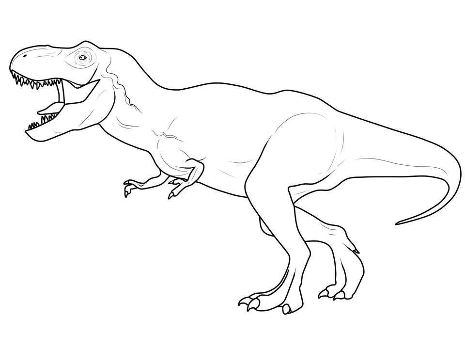 Ausmalbild Dinosaurier Und Steinzeit Dinosaurier Tyrannosaurus Rex Kostenlos Ausdrucken Mal Dino Ausmalbilder Dinosaurier Ausmalbilder Malvorlage Dinosaurier