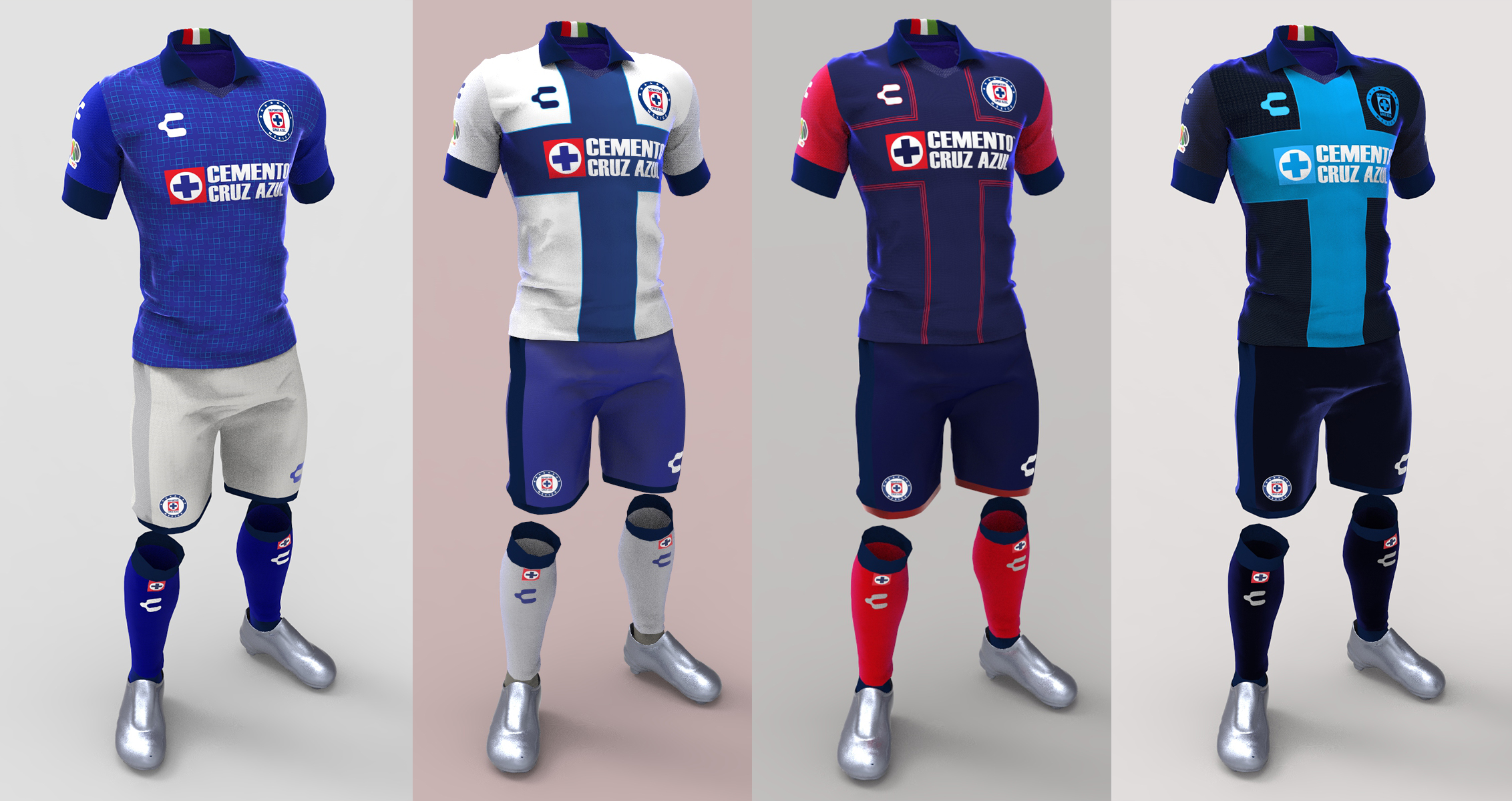 c51f7281 Diseños Deportivo Cruz Azul | uniformes sport | Sports, Football, Soccer