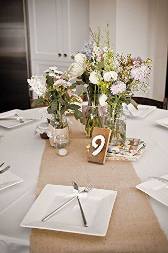 Amazon burlap table runner 120x12 caleb brittany amazon burlap table runner 120x12 centerpiece junglespirit Image collections