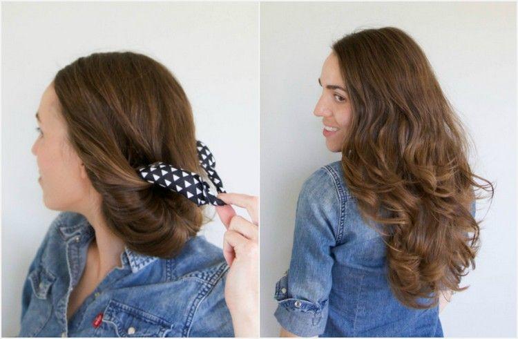Locken Ohne Lockenstab Haarband Entfernen Schnelle Frisur Wellen Locken Machen Lockige Frisuren Styling Kurzes Haar