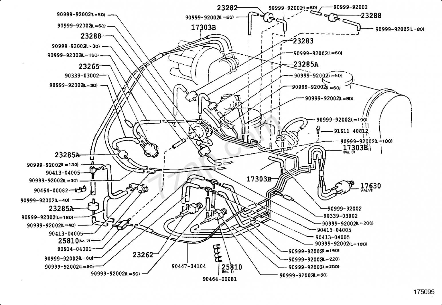 Toyota Corolla 7e Engine Vacuum Diagram