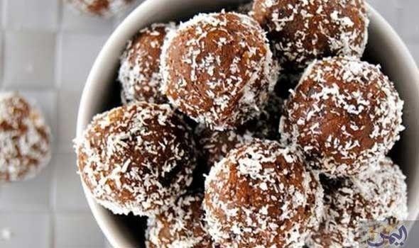 طريقة عمل كرات جوز الهند بالشوكولاتة Gluten Free Treats Energy Snacks Snack Bites