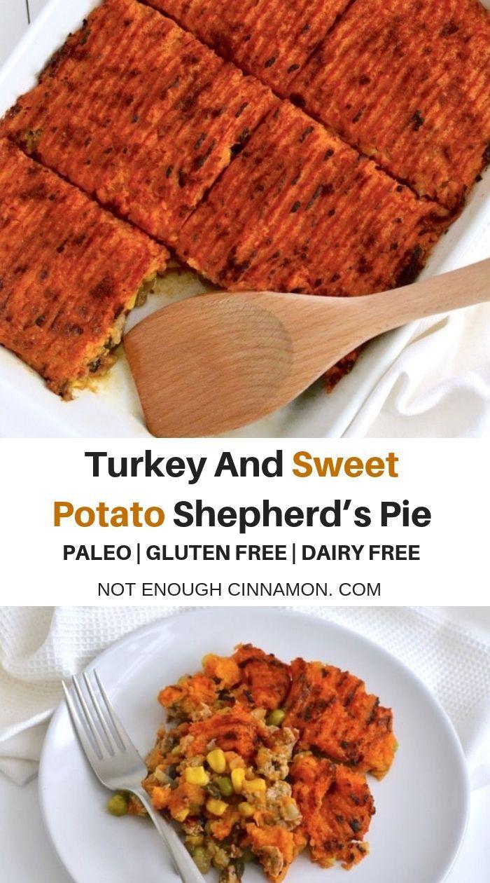 Sweet Potato Shepherd's Pie with Ground Turkey (Paleo,Gluten-free, Clean Eating) #shepardspie