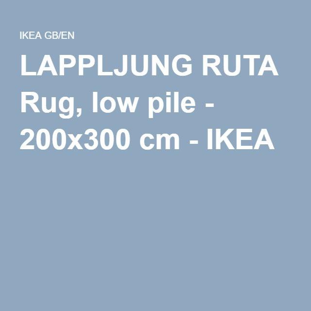 LAPPLJUNG RUTA Rug, low pile - 200x300 cm - IKEA