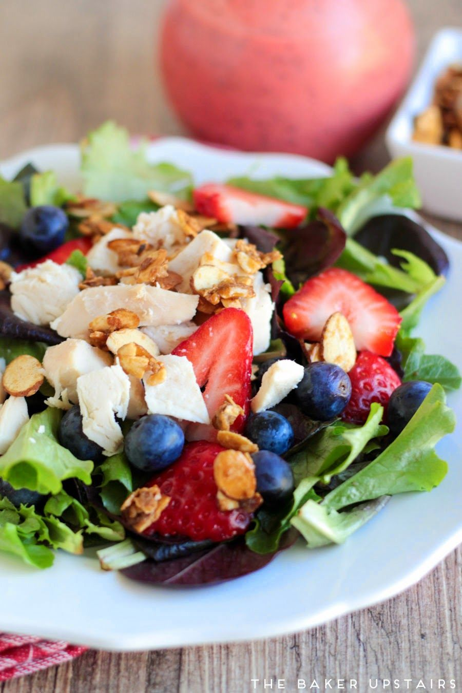 Berry Chicken Salad Easy Candied Almonds Breakfast Salad Recipe Quinoa Recipes Breakfast Salad Recipes