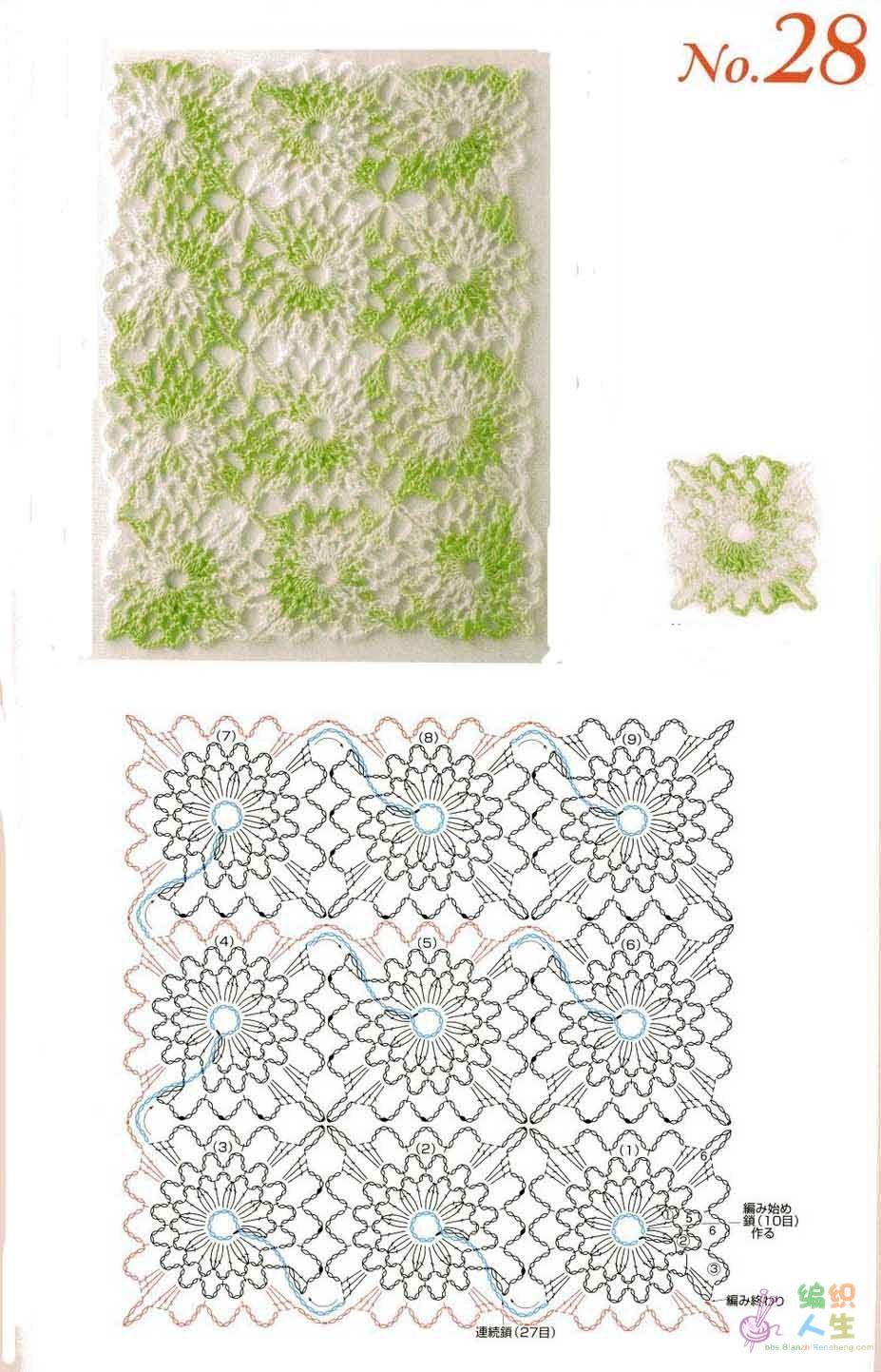 Clases de Puntos y Patrones. Libros - Patrones Crochet | cuadrados ...